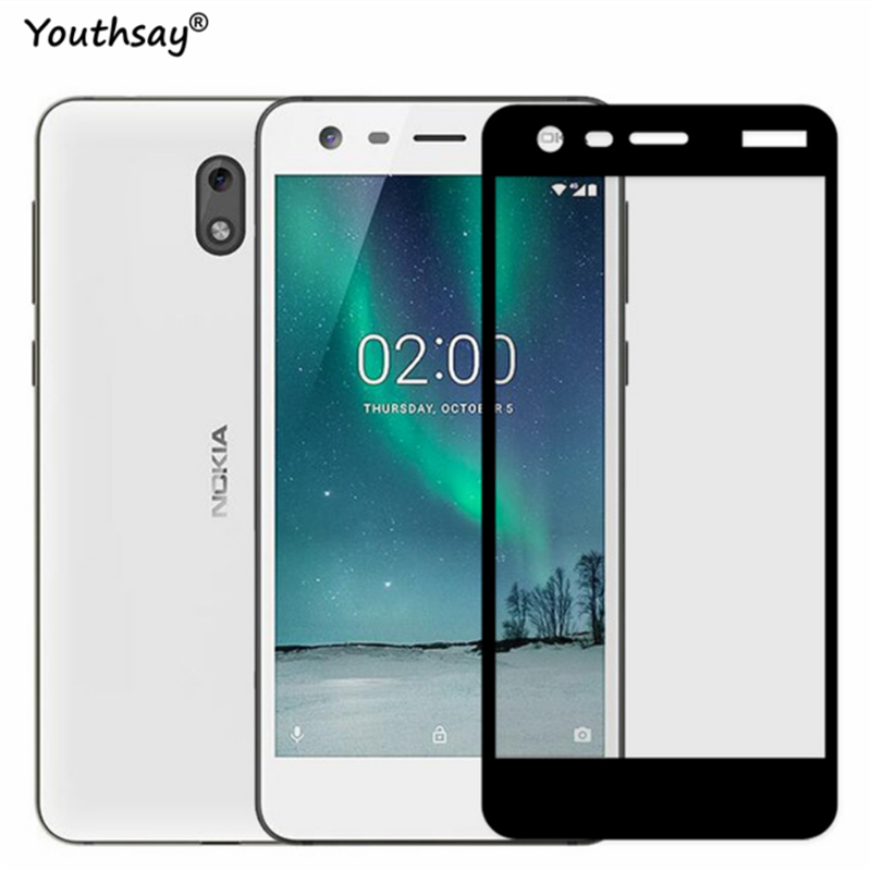 Full Glass sFor Nokia 2 Screen Protector Full Coverage Protective Film For Nokia 2 Tempered Glass For Nokia 2 dual sim Youthsay