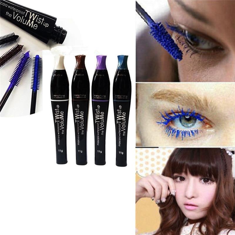 1Pc Professional Cosmetic Mascara Extension Length Long Curling Eyelash Makeup Black Mascara Eye Lashes Make Up Liner 4 Colors
