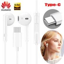 Auricolare HUAWEI CM33 USB type c In Ear microfono cablato controllo del Volume cuffie per huawei Mate 20 P20 Pro xiaomi 2s 6x Mi8