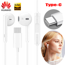 HUAWEI Earphone CM33 USB Type C In Ear wired mic Volume Control Headset for huawei Mate 20 P20 Pro xiaomi 2s 6x Mi8