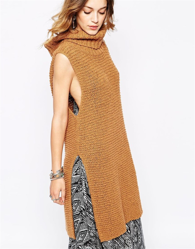 Women s Turn down Collar Rabbit Hair Long Dress With Pocket Slim Knitted Sweater Female Open