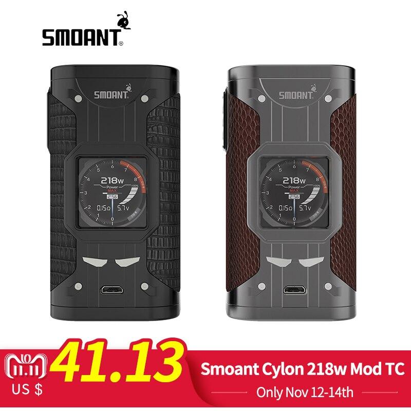 D'origine Smoant Cylon 218 w Mod TC Puissance Variable Cigarette Électronique 510 Fil Vape Mod avec 1.3 pouces écran Vaporisateur Vaper
