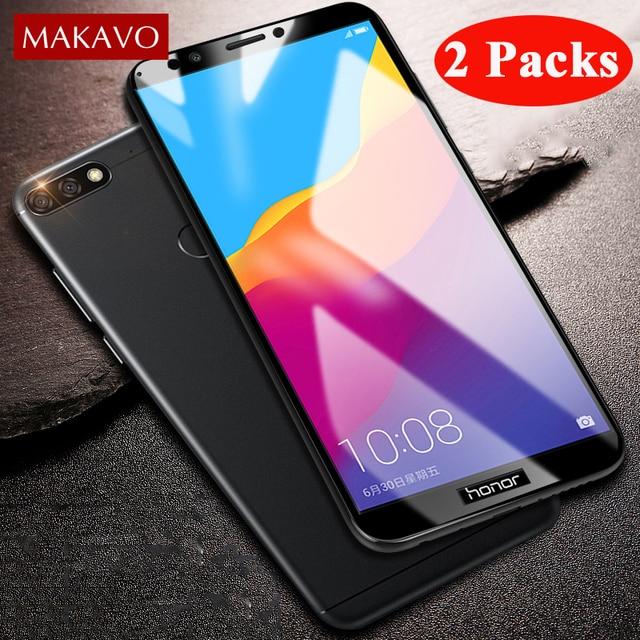 2 пакеты Экран протектор для huawei Honor 7C закаленное Стекло пленка для Honor 7C Pro 7X 7C P20 Lite Pro Honor 9 Lite P10 плюс Стекло