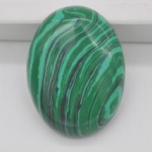 40x30 мм зеленый малахитовый камень овальный кабошон кабина драгоценный камень для изготовления ювелирных изделий 1 шт. H101