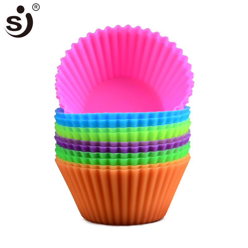 Zonfer Romantic Heart Silicone Chocolate Mould Cake Decorating Tools Cupcake Cookies Silicone Mold Muffin Pan Baking