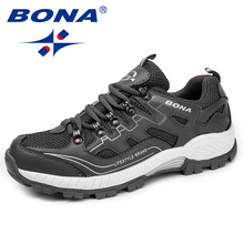 лучшая цена BONA New Classics Style Men Running Shoes Lace Up Men Athletic Shoes Comfortable Outdoor Jogging Sneakers Soft Free Shipping