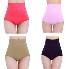 2019 Women Sexy Lingerie panties Slimming High Waist Brief Panties Thong High Waist Knicker Underwear Sleepwear 6540#2(China)
