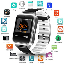 цена LIGE Men Fitness Smart Watch Waterproof Sport Pedometer Clock LED Large Screen Digital Watch Touch Screen Support TF SIM Card онлайн в 2017 году
