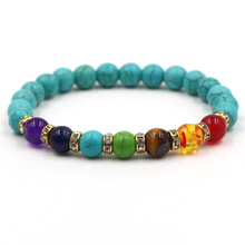 Men Women Chakra Mixed Stone Healing Charm Bracelets Lava Beads Hidden Safety Clasp Bracelet Natural Jewelry