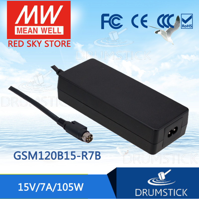 цена на MEAN WELL GSM120B15-R7B 15V 7A meanwell GSM120B 15V 105W AC-DC High Reliability Medical Adaptor