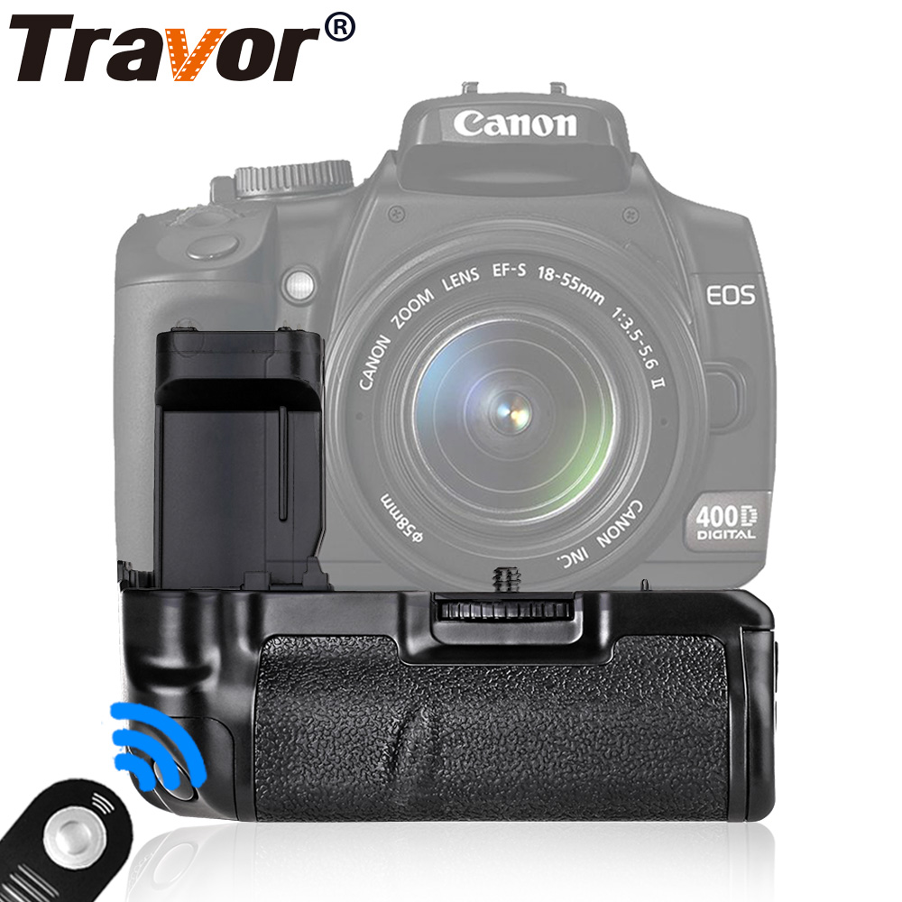 Travor Battery Grip Pack For Canon 400D 350D Rebel XT Xti Camera as BG-E3+universal remote control as a gift for free