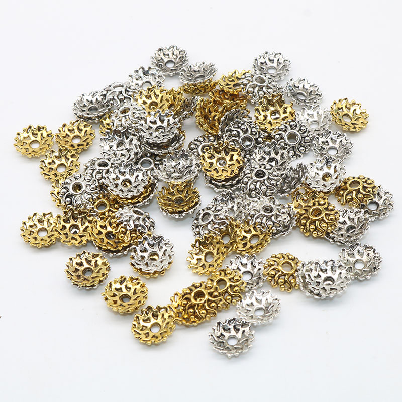 Jewelry Findings & Components Diligent 100pcs/lot Metal Figure Bead Caps Pentagram Silver Plated Flower Beads End Caps Charms For Jewelry Findings 10mm Wholesale Jewelry & Accessories