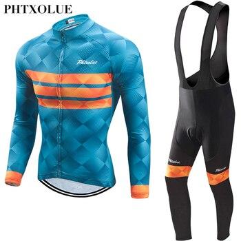 Phtxolue Homens Inverno Velo Térmica Ciclismo Roupas de Ciclismo Define Kit Bicicleta Conjunto Camisa de Ciclismo Jerseys Bicicleta do Desgaste de Bicicleta MTB