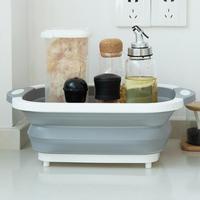 4 In 1 Foldable Sink Wash Vegetables Multifunction Drain Basket for Kitchen Fruit Portable Storage Basket Kitchen Tools