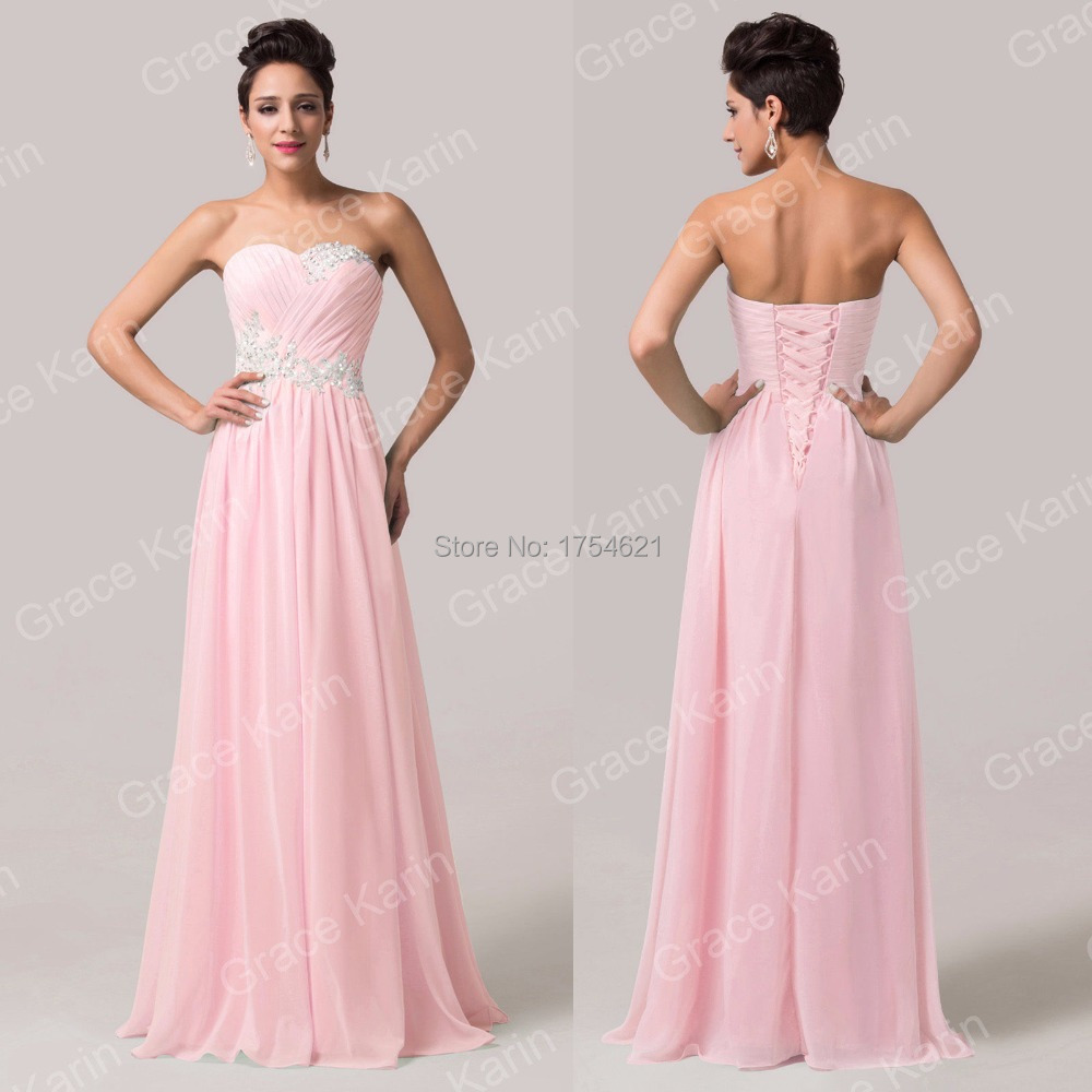 bule light green pink prom dress open back lace up long bridesmaid ...
