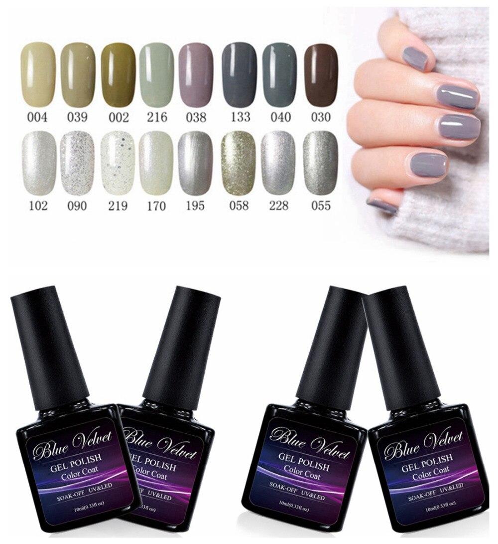 Blue Velvet 10ml Grey Series Summer Soak Off Glue Nail