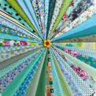 Tela hecha a mano DIY 46 Color verde Departamento impreso tela decoración del hogar artesanías ropa de artes creativas al por mayor tela de algodón - 6