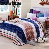 Solstlce Beddings High Quality Fashion Striped Blanket Adult Bedding Single Bed Double Bed Cover Bedspreads Blankets