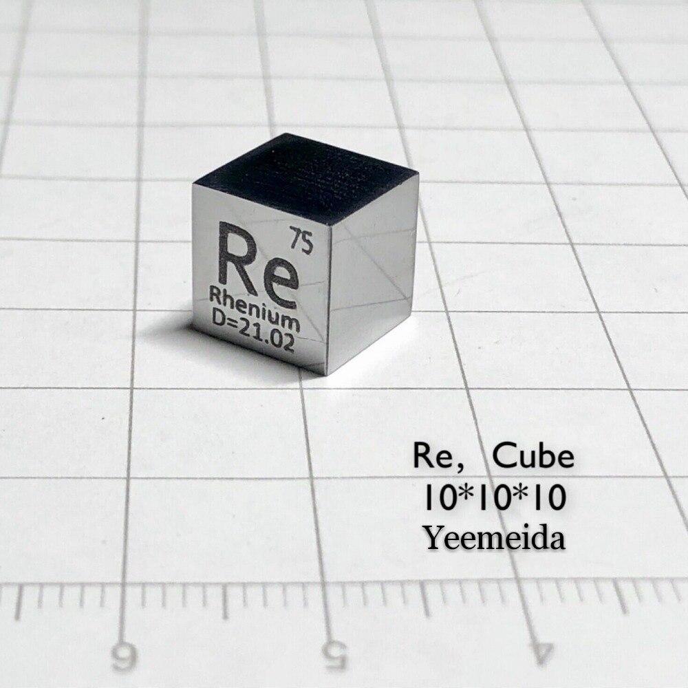 MIRROR POLISHED Rhenium Metal 10mm Density Cube 99 99 Rhenium Target