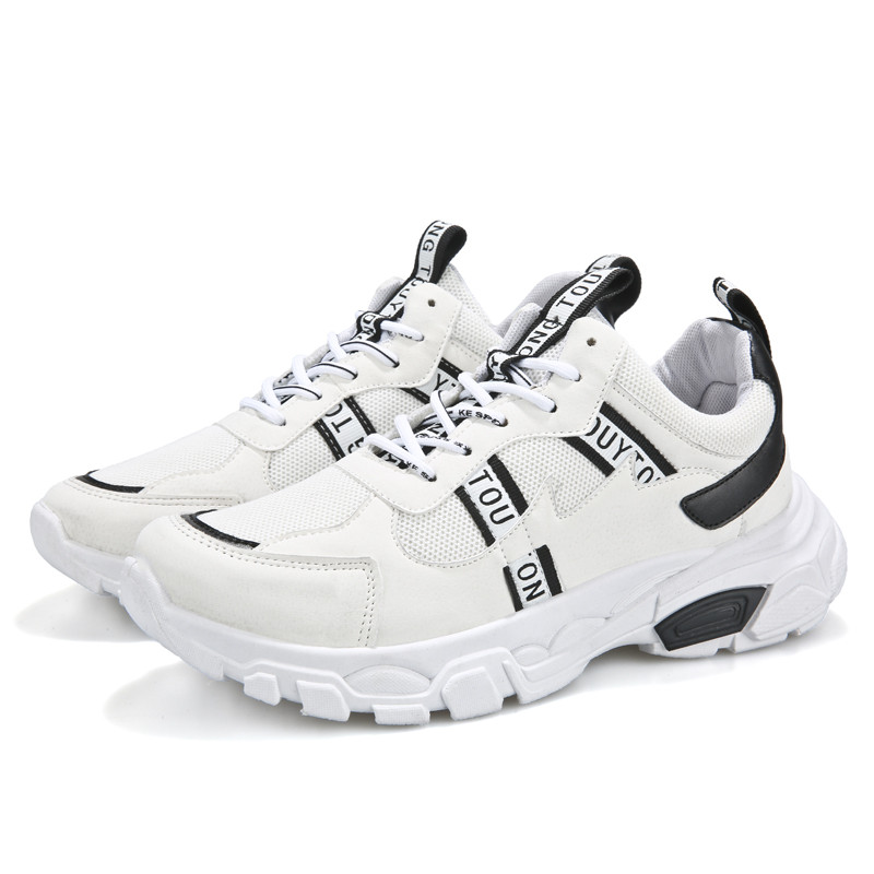 Papa chaussures hommes baskets maille tissu toile chaussures hommes respirant loisirs chaussures mode hommes à lacets épais fond résistant à l'usure
