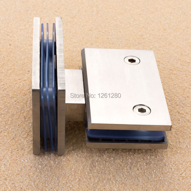 free shipping Stainless steel glass door hinge bathroom clip shower room hinge glass clamp household hardware 180-degree hinge black titanium 180 degree hinge open 304 stainless steel glass shower door hinges for home bathroom furniture hardware hm156