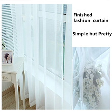 Fashion white curtains Custom made finished curtain window voile tulle curtain living room Window screening Home Decoration
