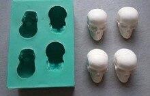Bricolage à fondant 3d pour décoration de gâteaux en Silicone, crânes, outils de décoration de gâteaux de haute qualité