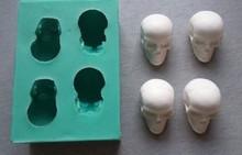해골 케이크 장식 퐁당 금형 diy 3d 수제 실리콘 금형 케이크 장식 도구 설탕 공예 도구 고품질