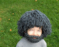 Beard Wig Hats Handmade Knit Warm Winter Caps Hobo Mad Scientist Rasta Caveman Handmade Halloween Gift Mask Beanies 303