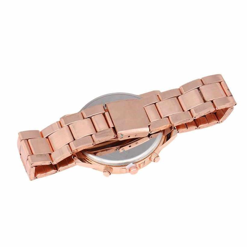2018หรูหราแฟชั่นผู้หญิงผู้ชายเพชรสามตาโลหะวงอะนาล็อกควอตซ์แฟชั่นนาฬิกาข้อมือrelógio masculino