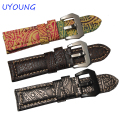 Quality Retro Genuine Leather Watch band Mens 22mm 24mm 26mm Phoenix Pattern Watch Accessories For Panerai Strap