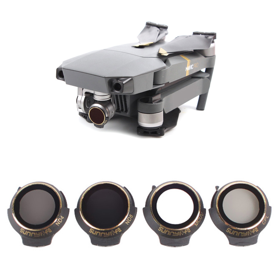 For DJI Mavic Pro Professional/Platinum Neutral Density Lens Filter UV+CPL+ND4+ND8  Filter Polar C-PL Drone Sunhood Accessories