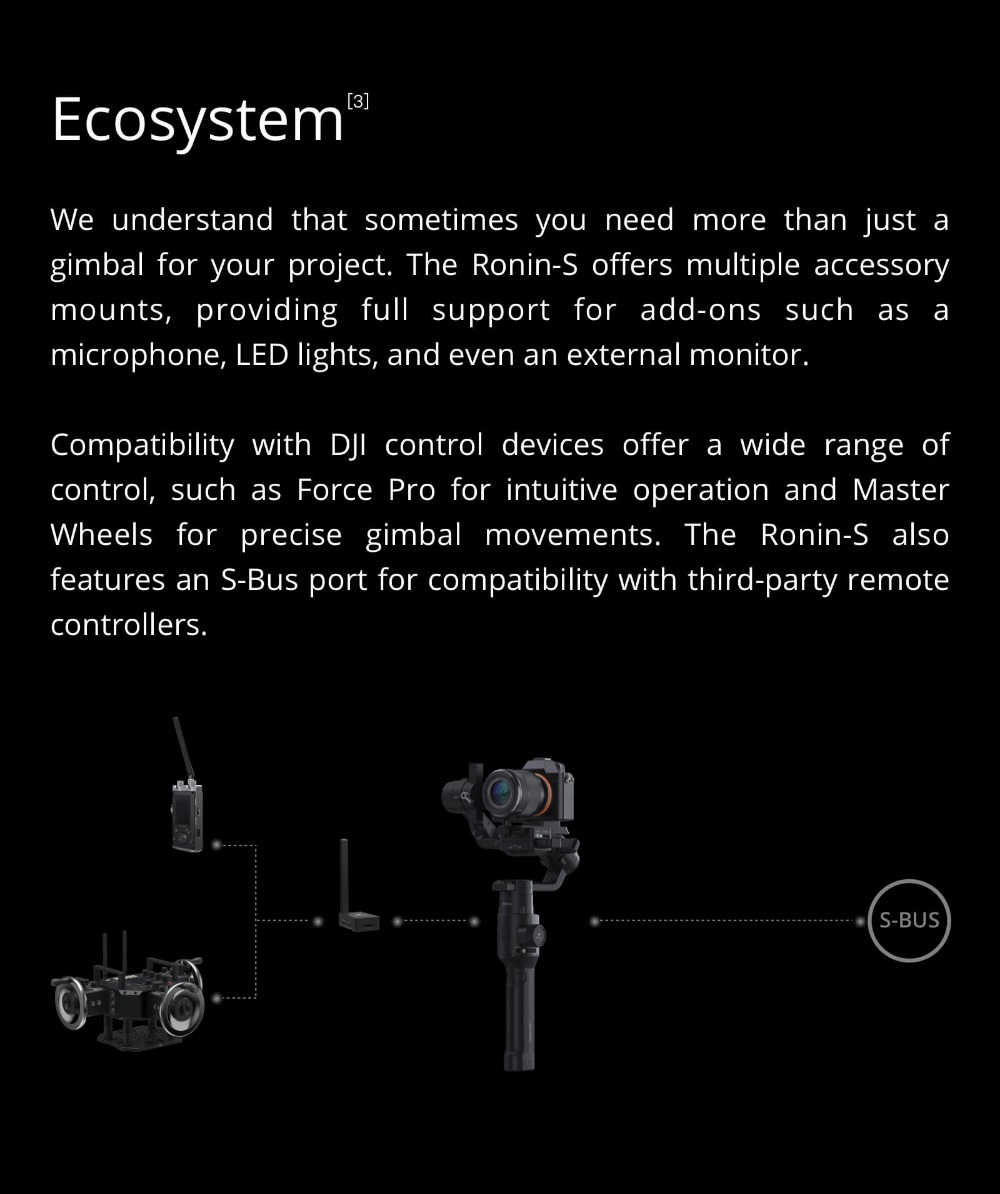Standard Kit and Essentials Kit Superior 3-Axis Stabilization Camera Control Fine Focus Control in stock brand new