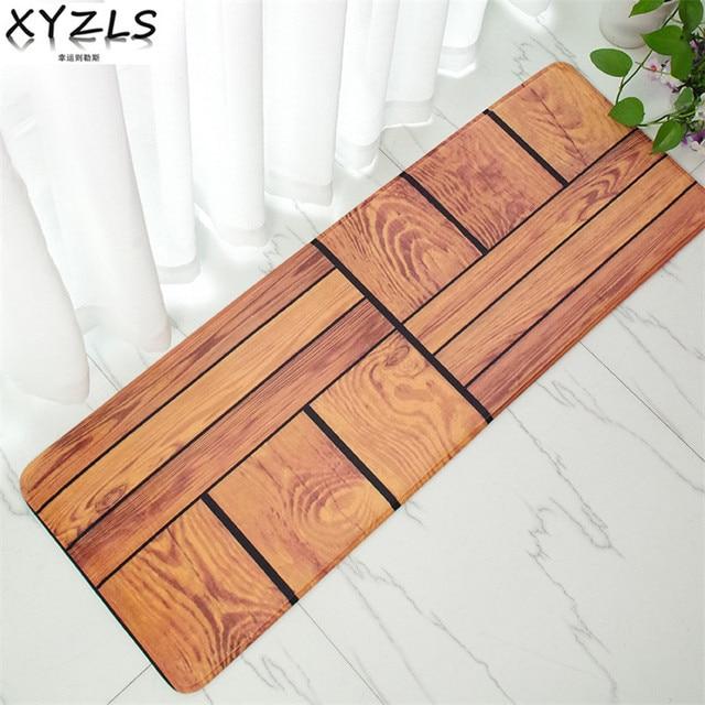 XYZLS Europe Striped Kitchen Floor Mat 40cm*120cm Printed Door Carpet  Restaurant Bar Sofa Tea