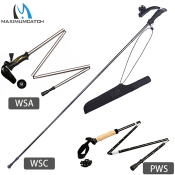 Maximumcatch Aluminum/Carbon Fiber Wading Staff Collapsible Fishing Stick Hiking Fishing Accessory