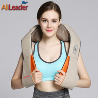 Alileader Pain Relief U Shape Electric Shiatsu Back Neck Shoulder Full Body Massager Car Home Dual
