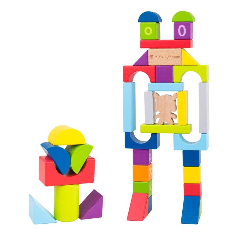 D'origine Xiaomi Mitu Hape 70 pièces Puzzle Blocs De Construction 26 Lettres 10 Numéros Jouets Éducatifs Pour La Maison Intelligente Cadeaux pour Les Enfants