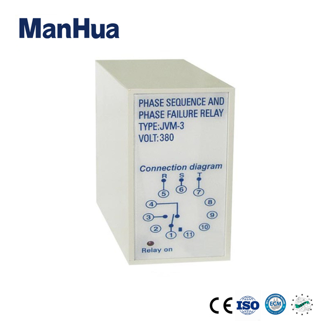 manhua three phase voltage relay jvm 3 sequence phase failure relay
