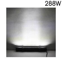 20 INCH 288w double rows 4X4 offroad car LED Light Bar waterproof Combo Beam 12v 24v auto truck led light bar