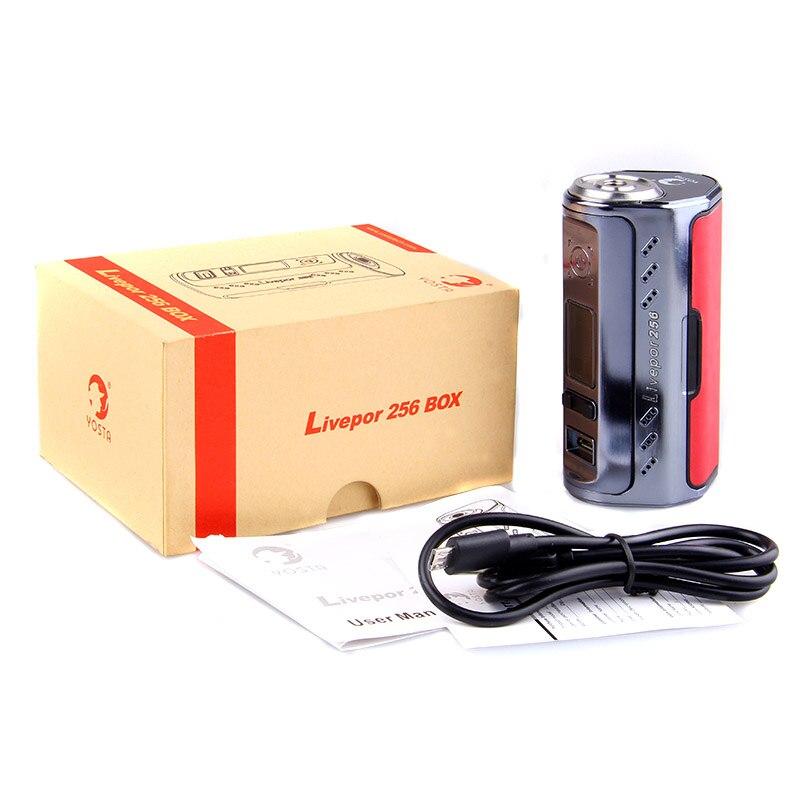 Cigarette électronique Yosta Livepor 256 mod 256 w vape box mods e cigarette vaporisateur soutien VW MECH tc-ni tc-ti TC-SS mode PTC