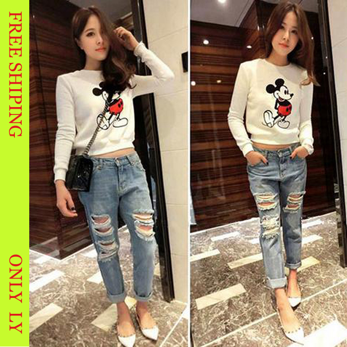 Compare Prices on Women Fashion Ripped Destroyed Jeans- Online ...