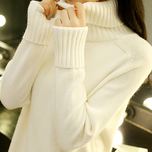 High necked sweater, women's autumn wear, 2018 new Korean style, long sleeved knitted Jersey, winter and winter wear.