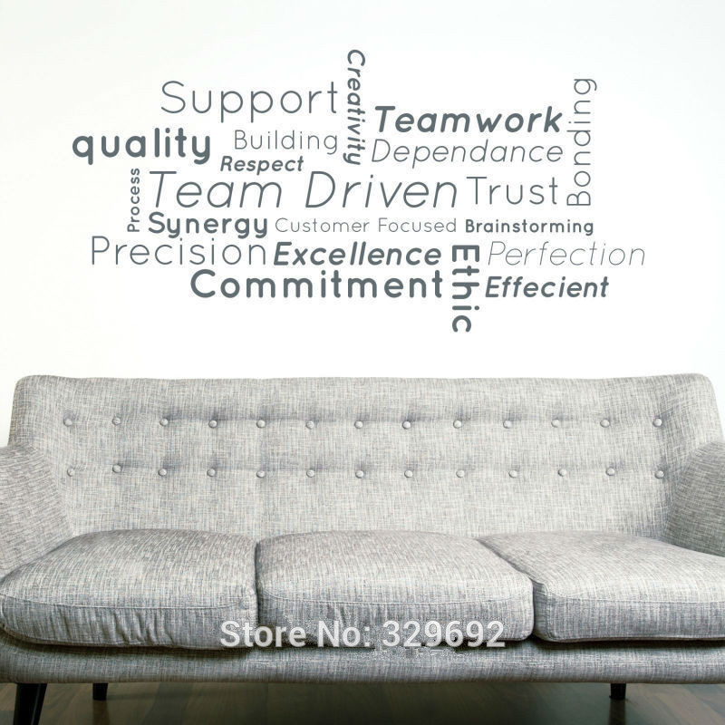 Support Team Office Work Quote Wall Decal Home Decor Art DIY Mural Vinyl  Sticker