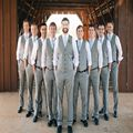 High Quality Vest and Pants for Groomsmen Clothes Best Men Suits Waistcoat Trousers Customized Made Groom Clothes(vest+pants)