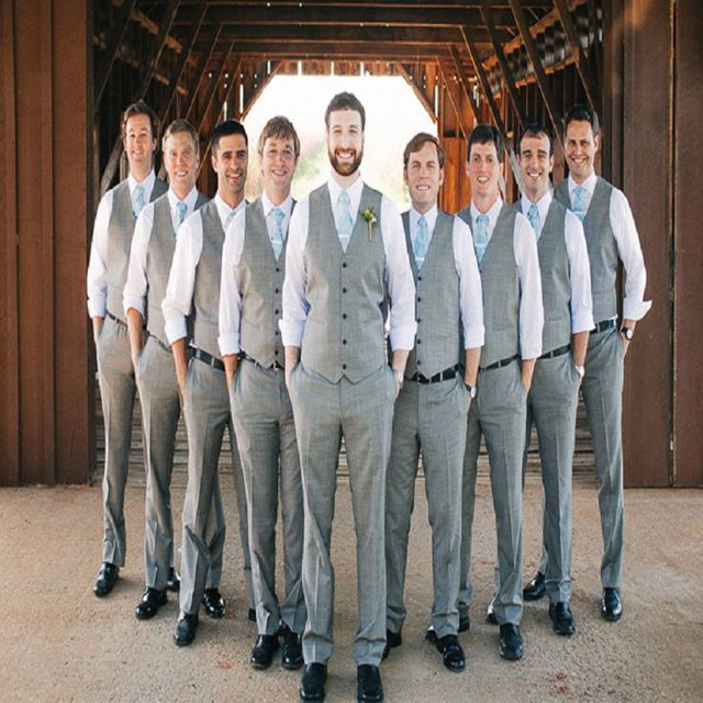 High Quality Vest and Pants for Groomsmen Clothes Best Men Suits ...