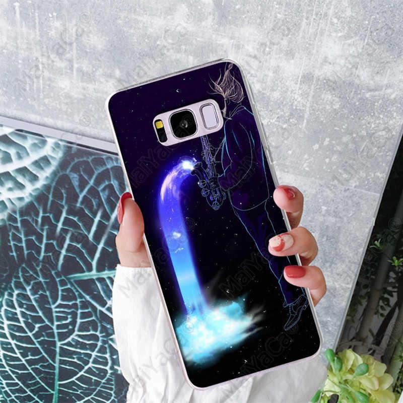 MaiYaCa סקסופון חידוש Fundas מקרה טלפון כיסוי עבור Samsung S5 S6 S6 קצה S7 קצה S8 בתוספת S9 בתוספת Coque פגז