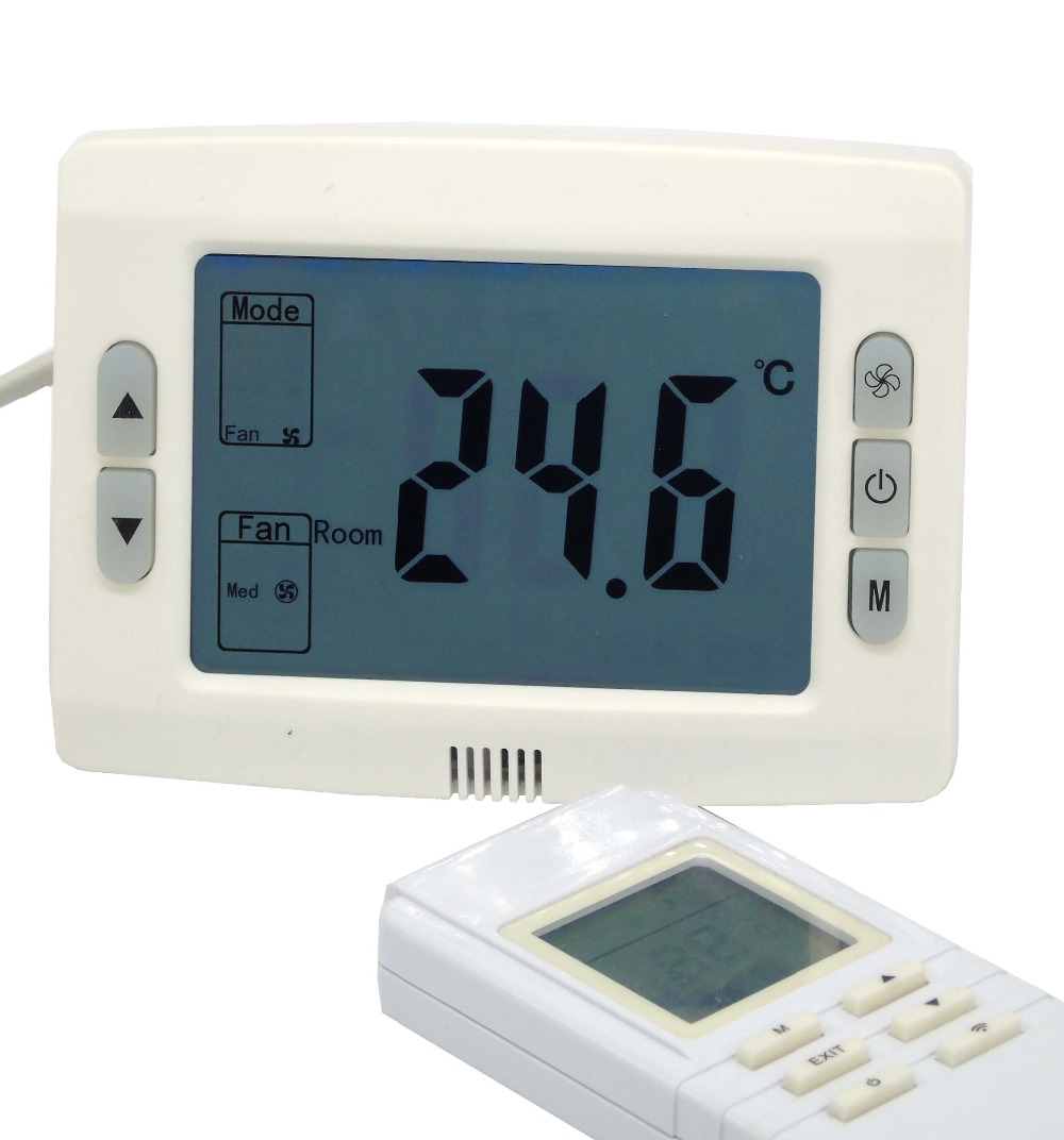 2p heat cool temp thermostat with remote control