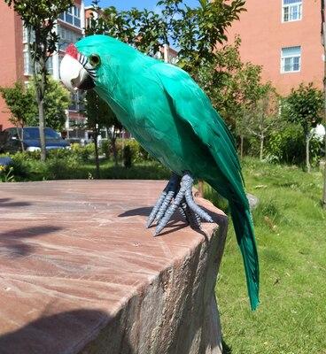 Grand 45 cm plumes vertes perroquet modèle oiseau scène prop, décoration de jardin cadeau d'anniversaire w2020