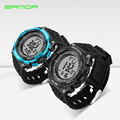 Fashion Men Digital LED Sports Watches SANDA Dive Military S Shock Watch Men Waterproof Outdoor Wrist watches Relogio Masculino