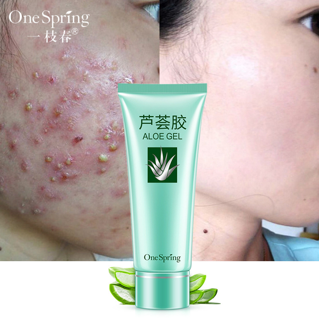 dc56ad073f4 One Spring Aloe Vera Gel Face Cream Anti-wrinkle Cream Repair After-sun  Acne Anti-aging Moisturizer Removes Pigment Skin Care